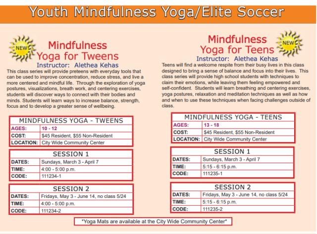 Teen & Tween Yoga Classes