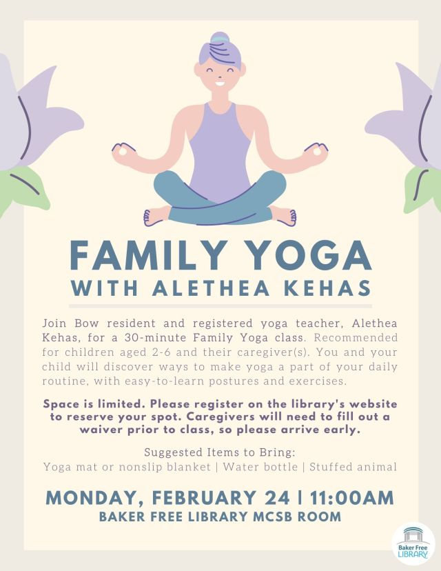Family yoga class in Bow, NH